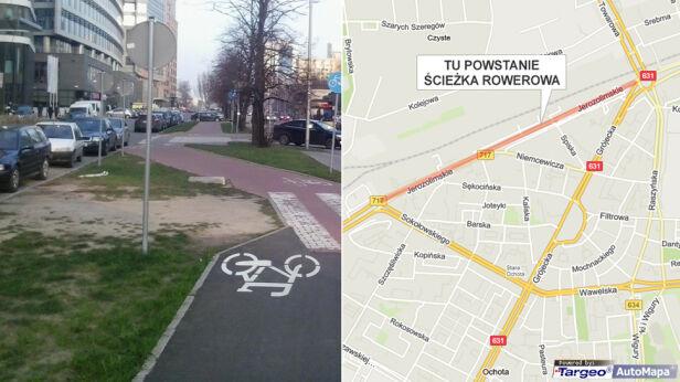 W tym miejscu powstanie nowa ścieżka rowerowa Pełnomocnik ds.komunikacji rowerowej/targeo