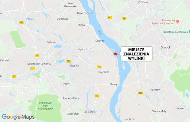 Miejsce, gdzie znaleziono wylinkę pytona (Google Maps/TVN Warszawa)