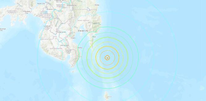 Rejon trzęsienia ziemi (USGS)