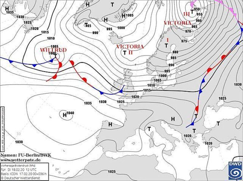 Nad Europą znajduje się potężny wir (wetterpate.de)