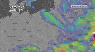 Opady deszczu w kolejnych dniach (Ventusky.com) | wideo bez dźwięku