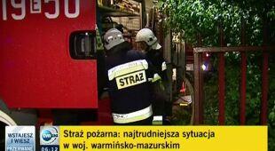 Paweł Frątczak o zniszczeniach po burzy w Bisztynku (TVN24)