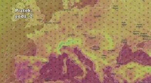 Temperatura w Europie w najbliższych dniach (Ventusky.com) | wideo bez dźwięku