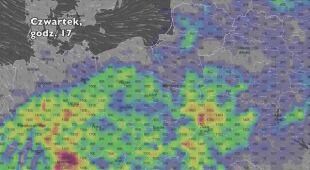 Potencjalny rozwój burz w ciągu siedmiu dni (Ventusky.com) | wideo bez dźwięku